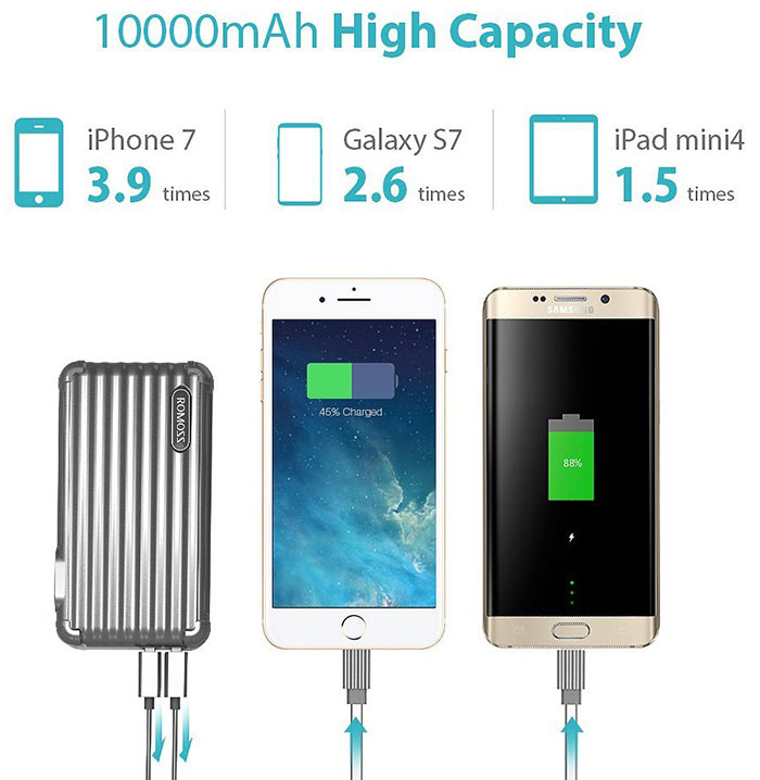 romoss upower 10000mah power bank
