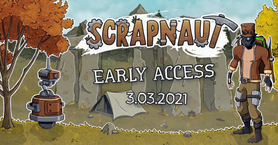 the steampunk-themed base-building survival game scrapnaut is now available via early access for pc